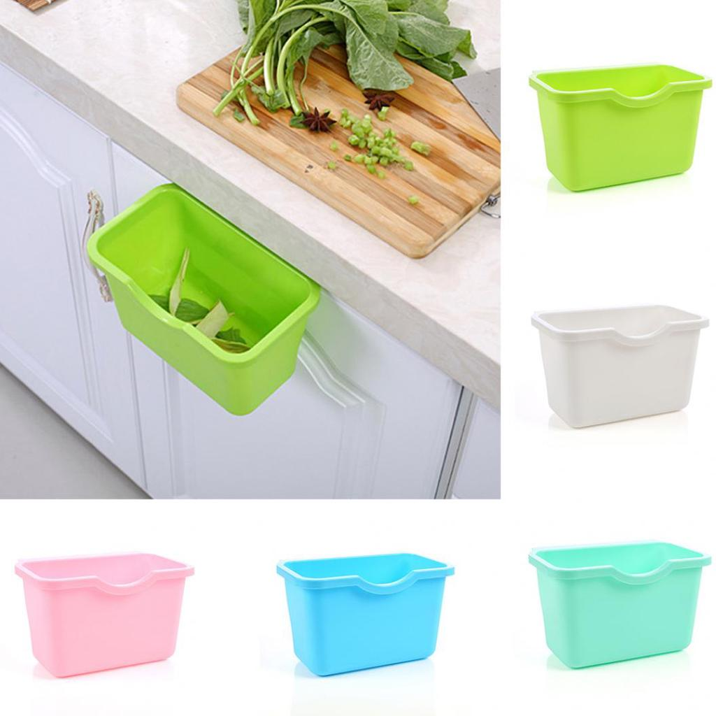 Kitchen Cabinet Door Plastic Basket, Kitchen Cabinet Door Mounted Trash Can