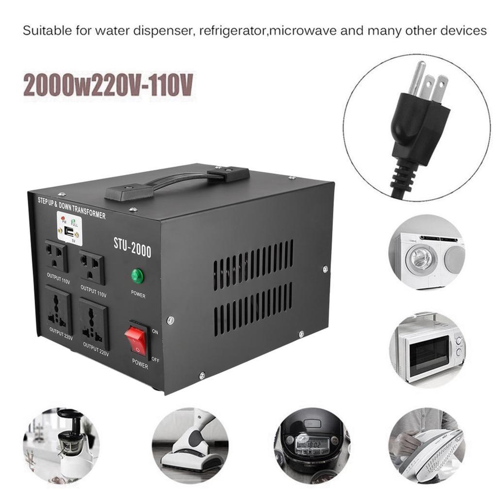 110V//220V STU-2000 2000Watt Voltage Converter Transformer-Step Up//Down USA TO
