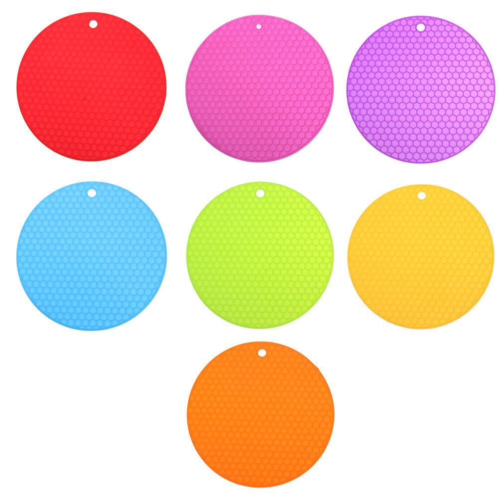 Силиконовые Сота таблицы нескользящей мат раунда изоляционные Placemat Кубок Pad – купить по низким ценам в интернет-магазине Joom