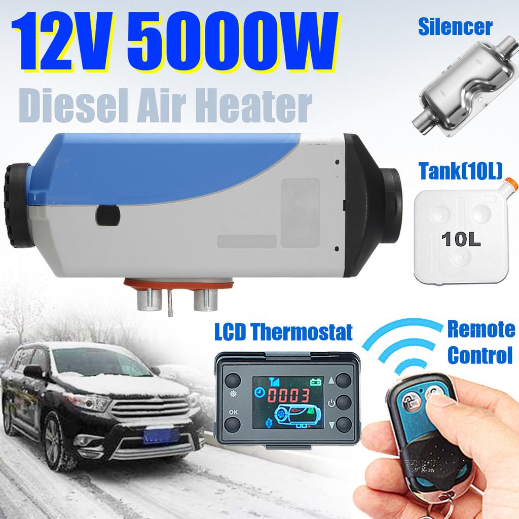 12V 2KW Diesel Air Heater 10L Tank LCD Switch Panel for Pickup Bus ...
