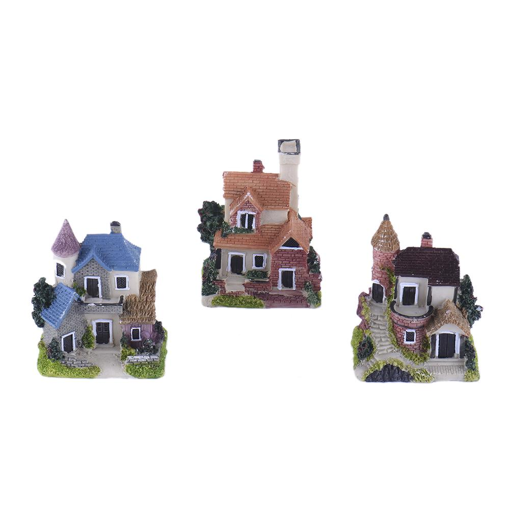 Кукольные домики Миниатюрный пейзаж Смола Замковый домик Мини-пейзаж Декоративные аксессуары на день рождения – купить по низким ценам в интернет-магазине Joom