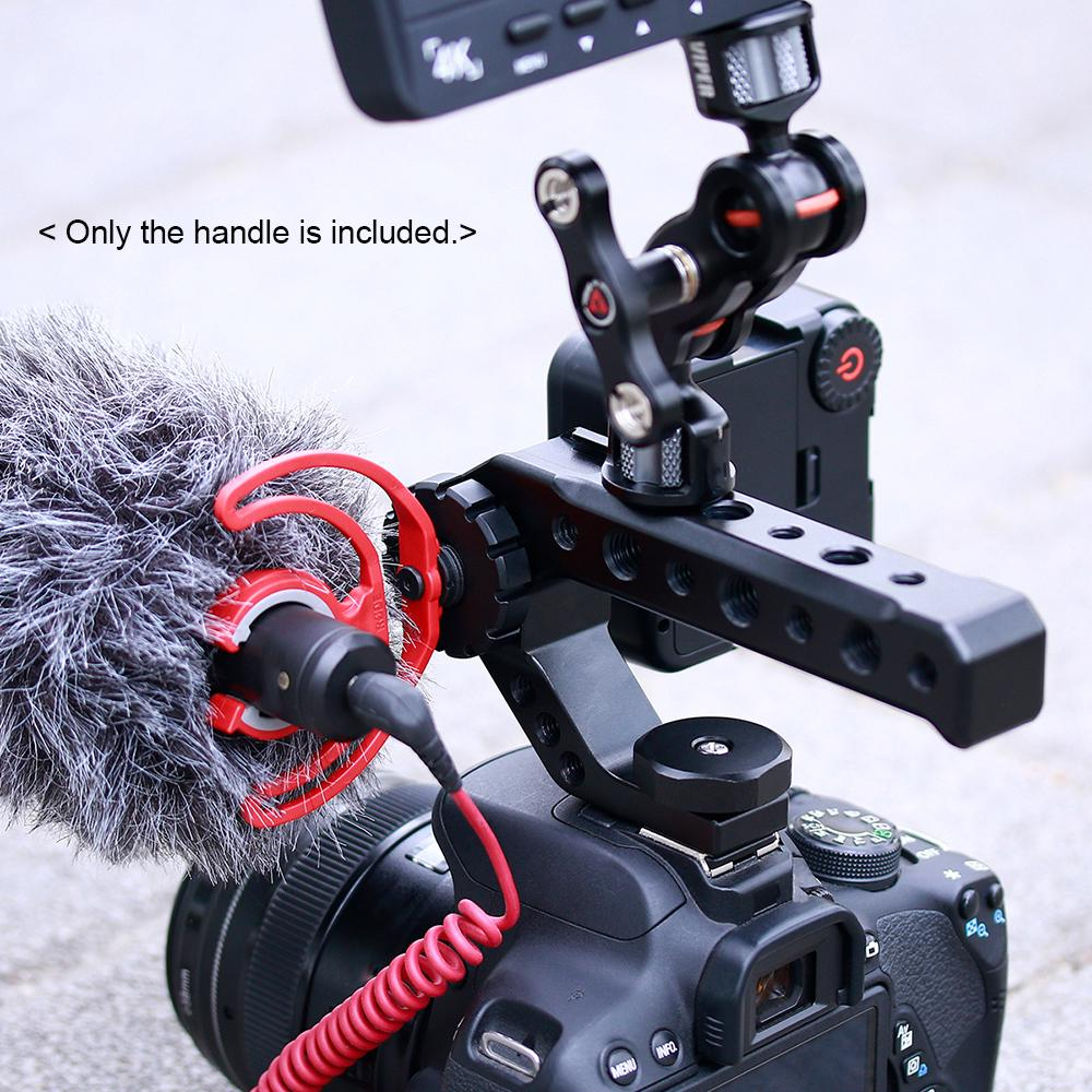 UURIG R005 Universal Hand Grip Camera Handle with Cold Shoe Mount 1//4/&3//8 Holes fo sa Camera Handle Grip