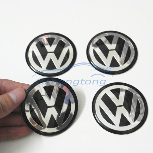 Vw Wheels Stickers 60mm Rims Center Caps Cover Decal Sticker Modificated Car Logo Accessories
