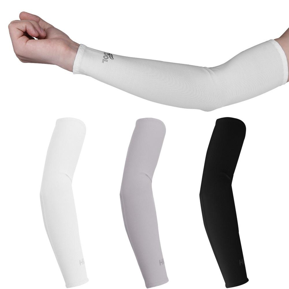2pcs Arm Sleeves Stretch Cover UV Sun Protection for Running Baseball Football