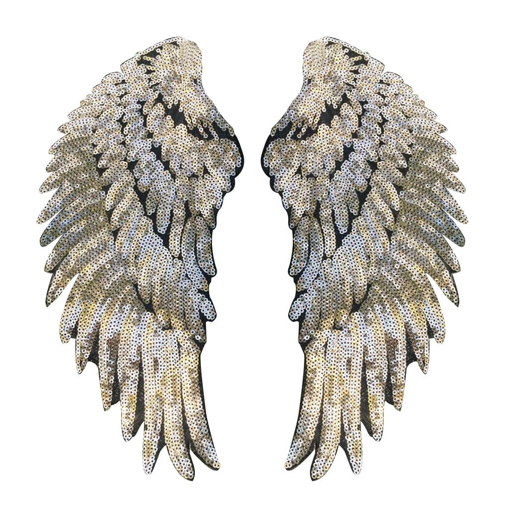 For Kids Clothes Sew On Embroidered Patch Motif Applique Stickers Sequin Patch Diy Angel Wings Buy At A Low Prices On Joom E Commerce Platform