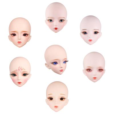 Lovely Plastic 1//3 BJD Doll Head Replacements Parts DIY Supplies White Skin