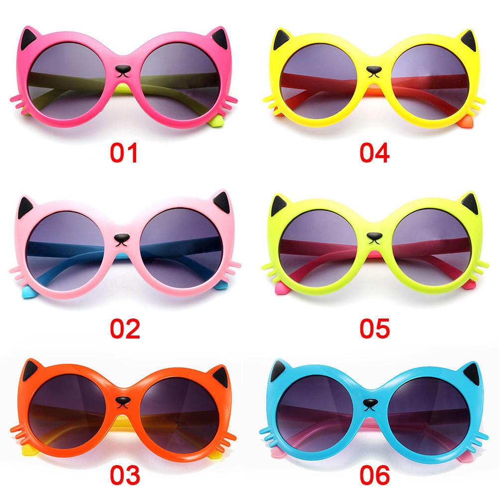 2017款猫咪造型儿童太阳眼镜 护眼防紫外线酷炫防爆嗮眼镜