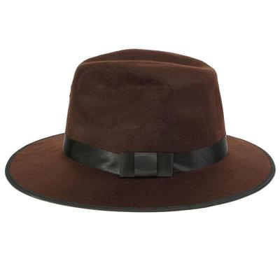 f85dfb144e3f53 Women Lady Soft Wool Felt Fedora Floppy Cloche Wide Brim Bowknot Bowler Hat  Cap Color: