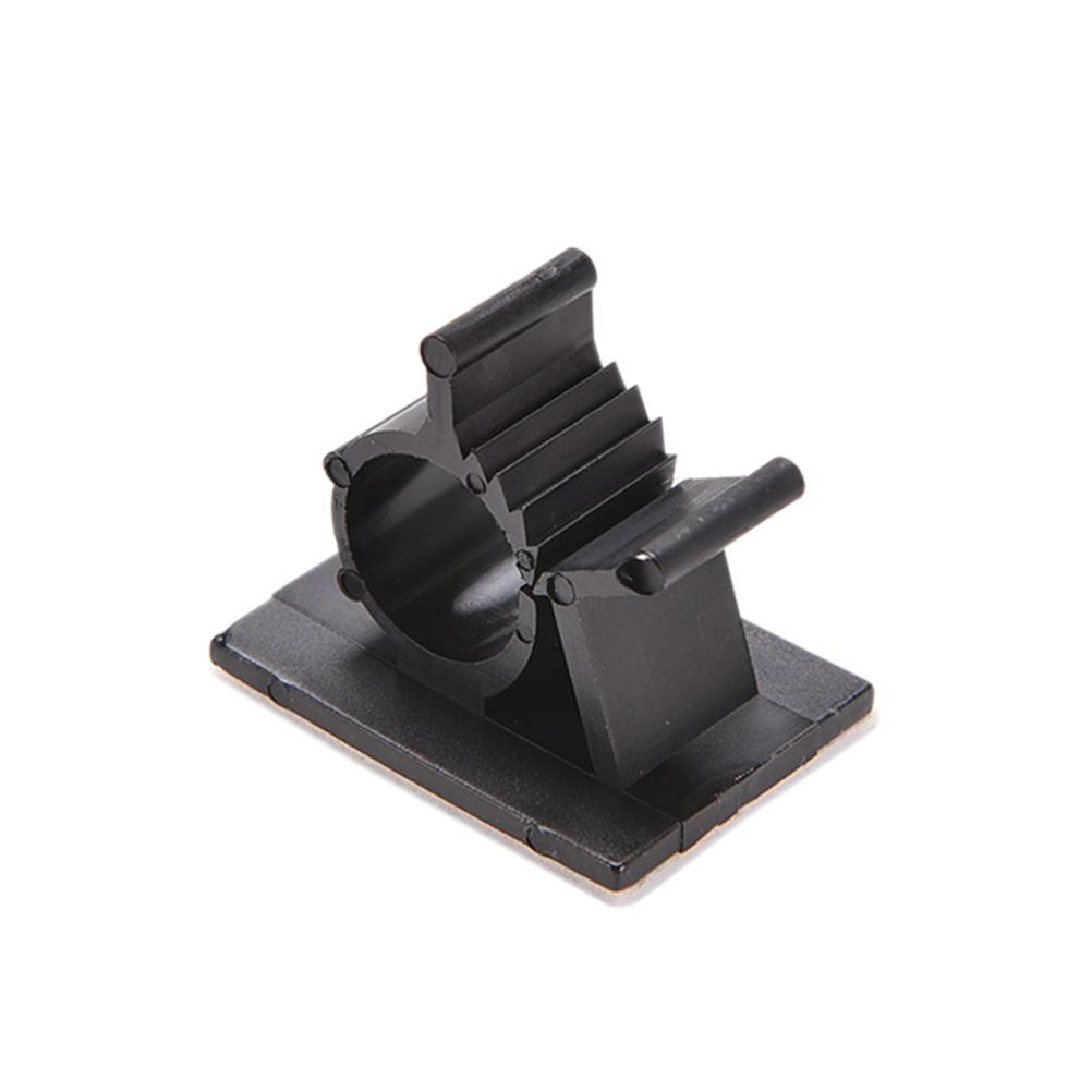Schwarz 10 Pcs Klebstoff gesichert Nylon Drahtklemmen einstellbar ...