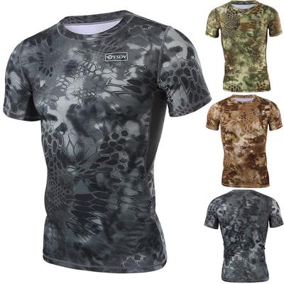 Mens Summer Fashion Short Sleeve Quick Dry Sports Fitness Breathable Mesh Casual T Shirts Blouses Tops