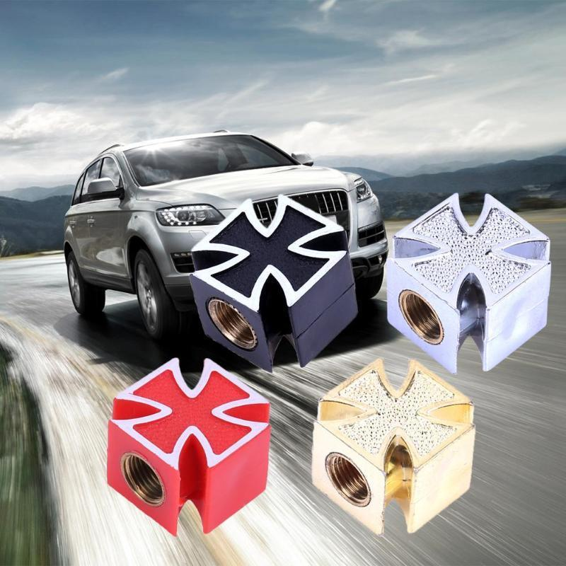 Hot 4pcs Silver Crown Style Tire Valve Stem Caps Car+SUV+Motorcycle+Bike /& ATV