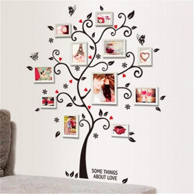 Árbol de familia pared calcomanía pegatina vinilo grande foto marco ...