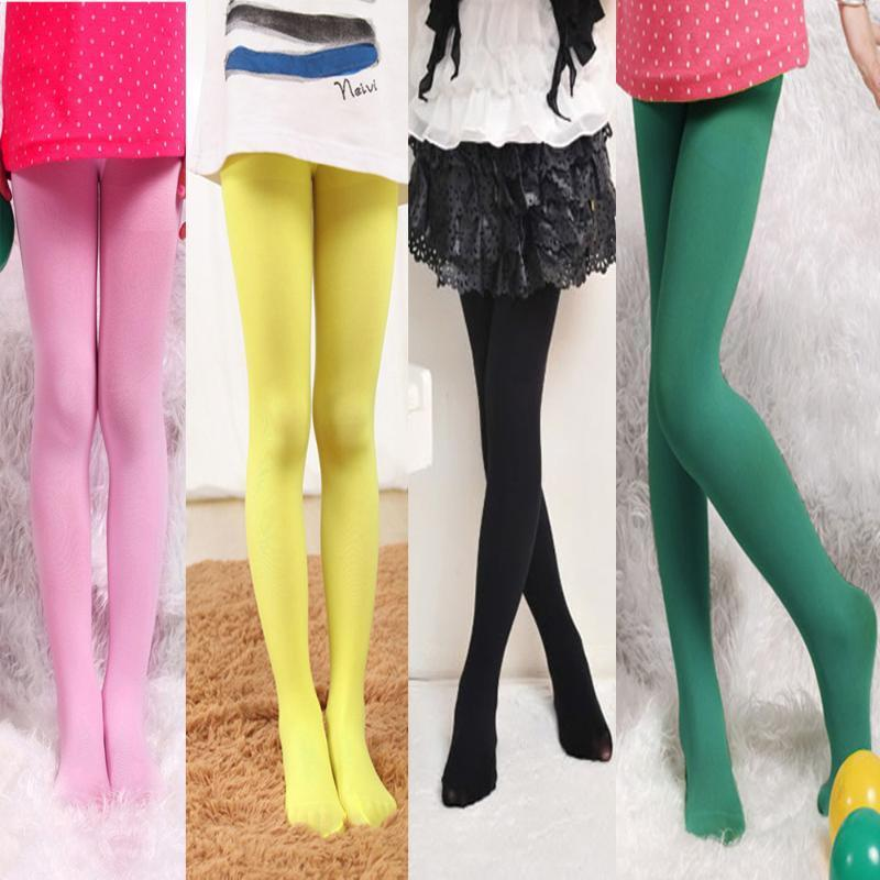 Girl/'s Casual School Dancing Pantyhose Pure Color Tight Stretch Stockings 1PC