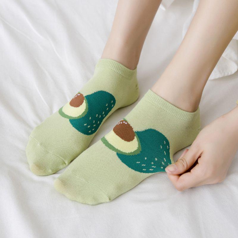 2PCS Women Cotton Socks Cute Animals Casual Socks Hosiery Foot Socks Short Socks