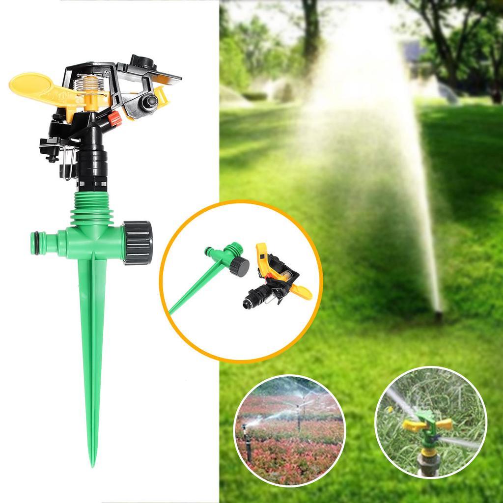 Garden Sprinkler 360 Degree Watering Lawn Impulse Irrigation Spike System Hose