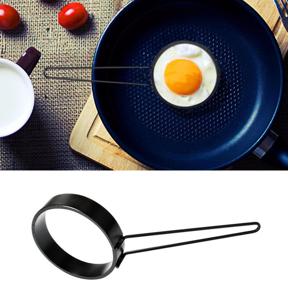 Silicone Round Egg Rings Pancake Mold Ring With Handle Kitchen Cooking Utensil