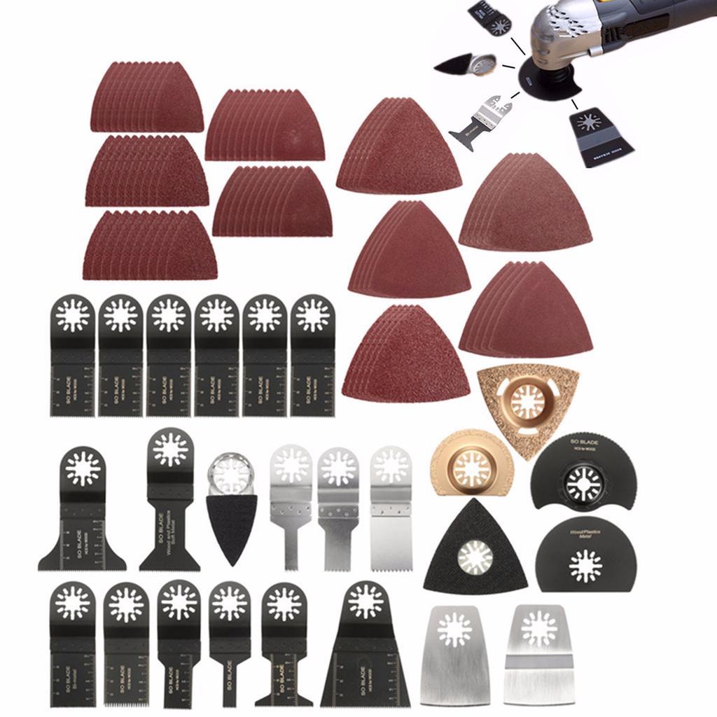 Tool Saw Blades Accessories For Bosch Fein Makita Lot 100Pcs Oscillating Multi