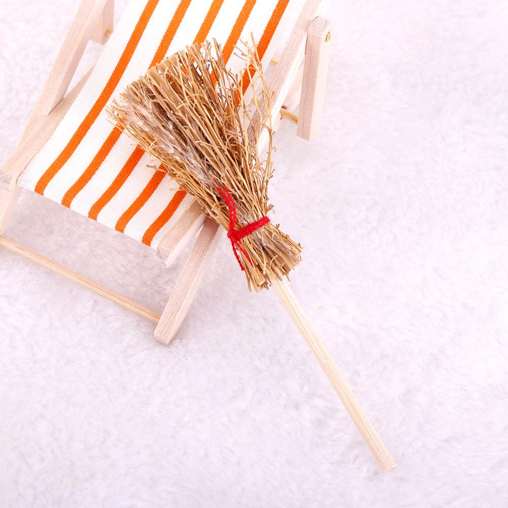 1:12 Wooden Broom Wicca Witch Kitchen Garden Miniature Doll House Price Low D8I9