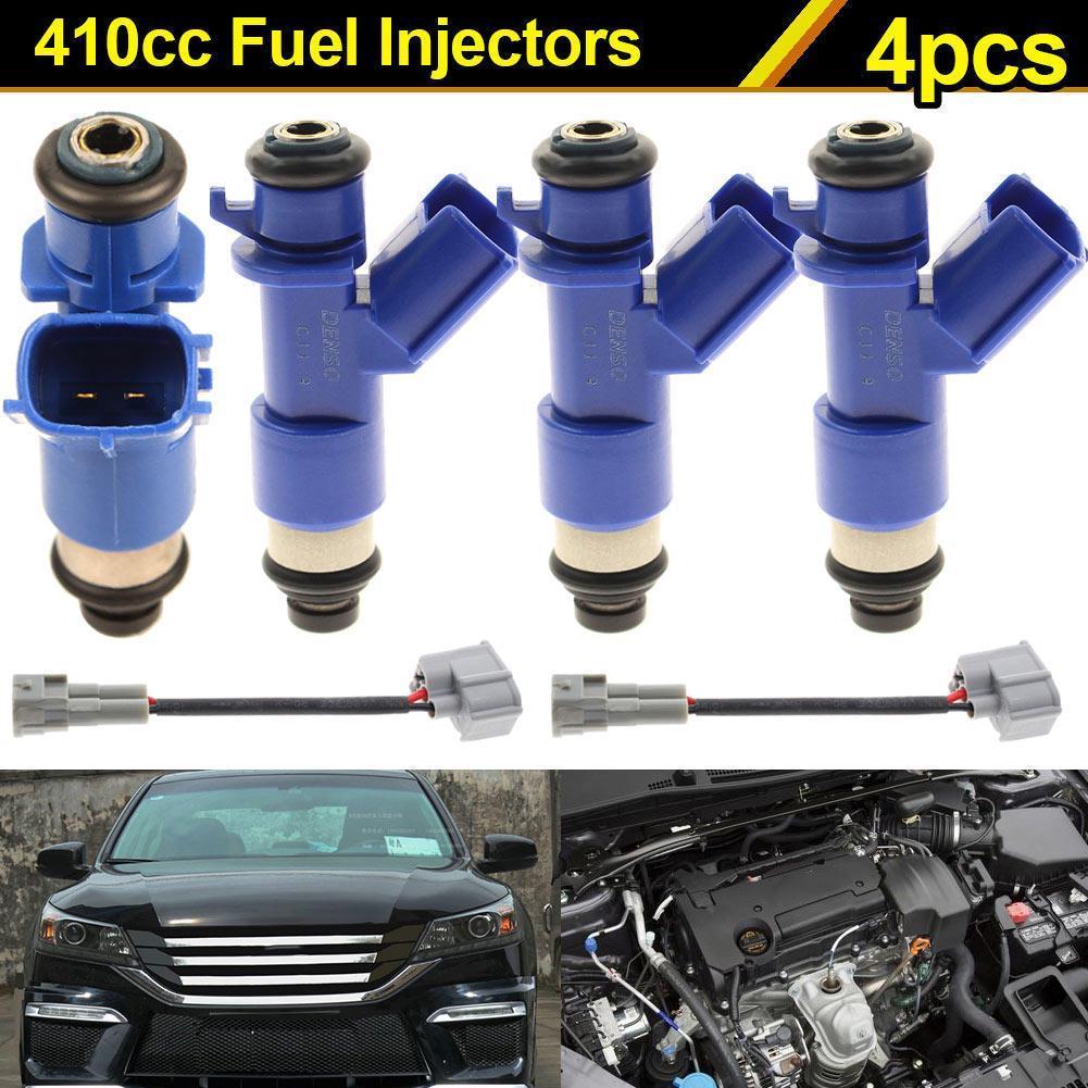 4 pcs 550cc Fuel Injectors fit for Honda with Any OBD 0 B-Series Engine OBD 1