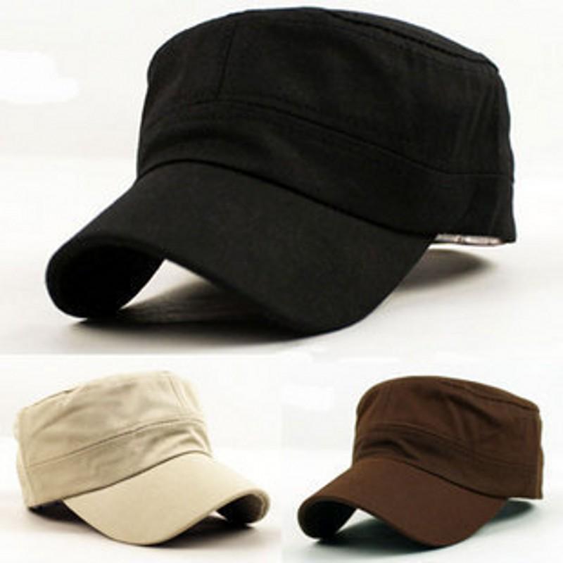 纯色平顶帽子 男女士军帽 简约鸭舌帽棒球帽 四季可戴遮阳帽