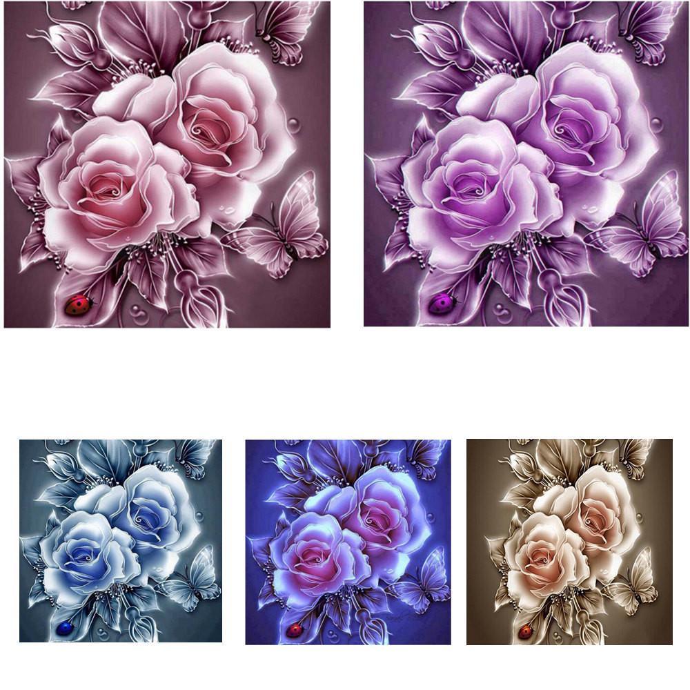 5D вышивка картин горный хрусталь вставить DIY Diamond картины крестиком – купить по низким ценам в интернет-магазине Joom