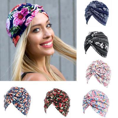 Las mujeres cáncer Floral Chemo sombrero Gorro bufanda turbante cabeza  abrigo Cap c1f74f6cdb4