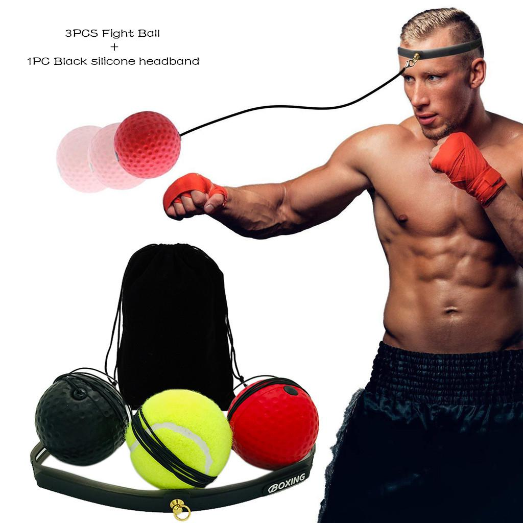 1PC Boxing Ball Head Mounted Speed Ball Reaction Boxing Reflex Ball Training Ball Fitness Ball Sports Activities for Training Hand Eye Coordination and Fitness