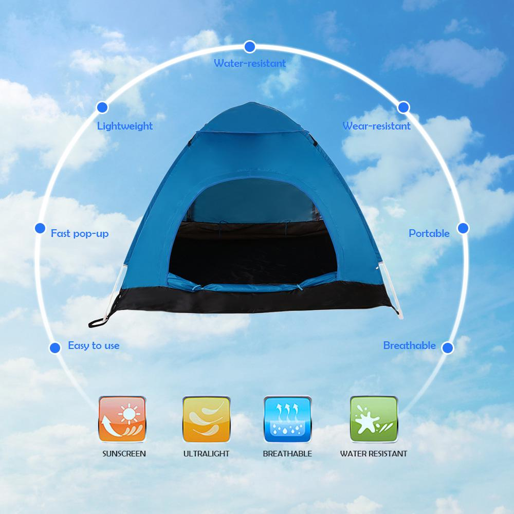 TOMSHOO Outdoor Przenośny Automatyczny Pop Up Namiot Plażowy Namiot Camping Hiking Backpacking Namiot Sun Shelte