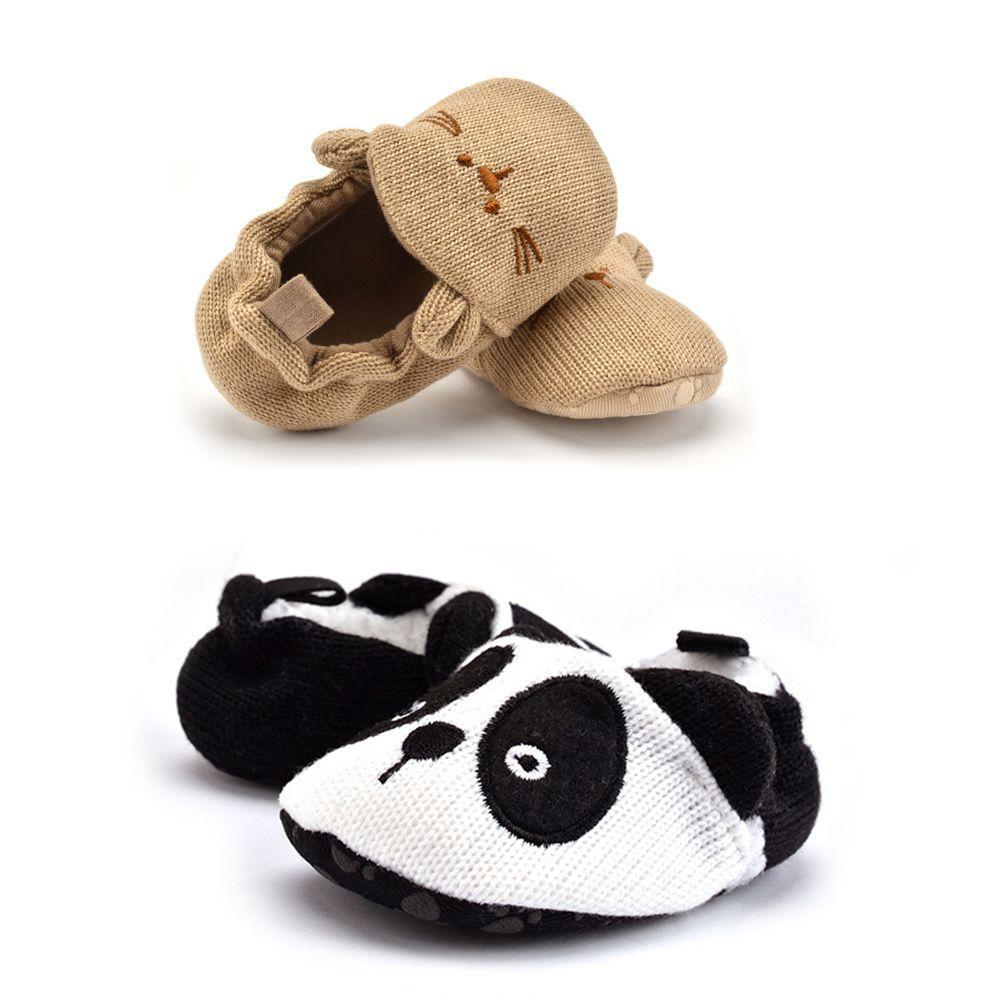 Bebé Chicas Chicos primero Caminantes Zapatos Suave Único Zapatos (13cm (12-18 meses), Panda)