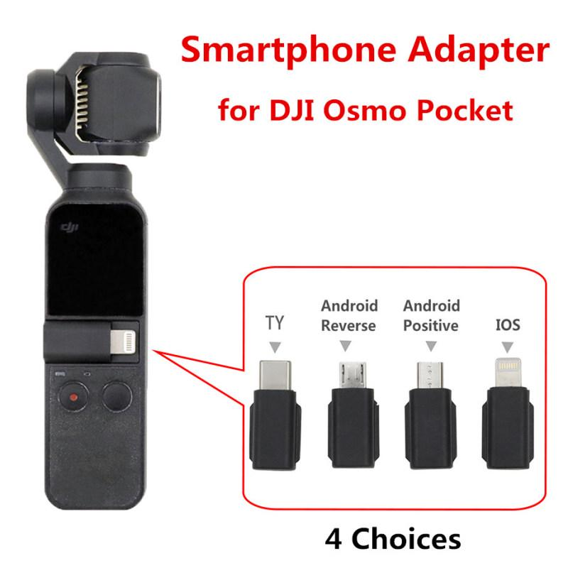 Smartphone Adapter Connector Micro USB for OSMO Pocket Smartphone Android Mount Holder Bike Bracket Compatible with DJI OSMO Pocket Handheld Gimbal Accessories Android Connector