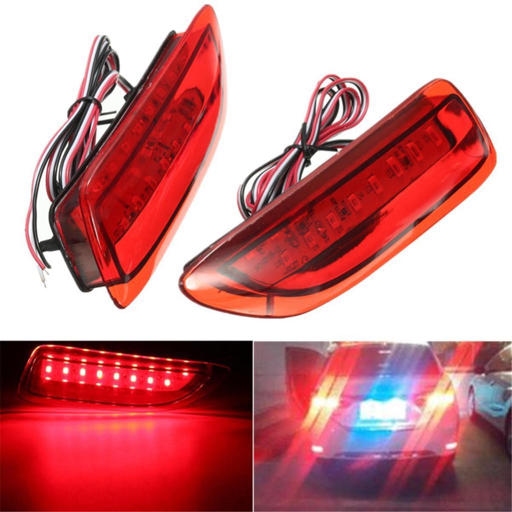 2 x rot Objektiv Bumper Reflektor LED Schwanz Bremslicht
