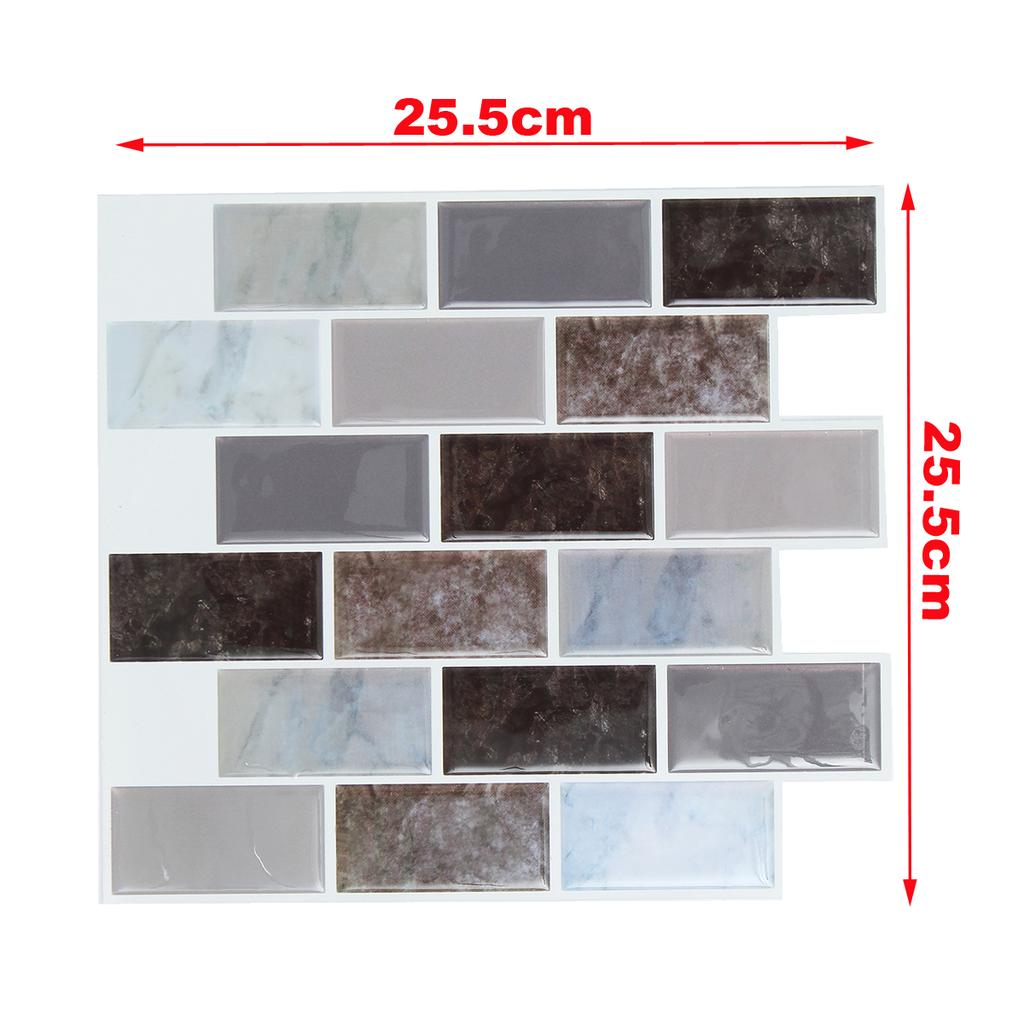 Kitchen Bathroom Tile Self-Adhesive Mosaic Stickers 3D Sticker Decor Wall Decal