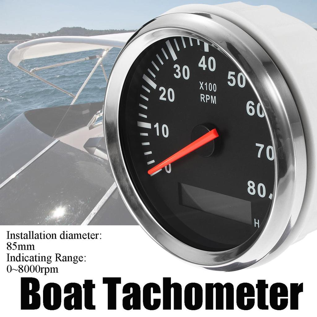 "2/"" 12V 8000 RPM Car Auto Tachometer Tacho Gauge Meter LED Lights Universal Type"