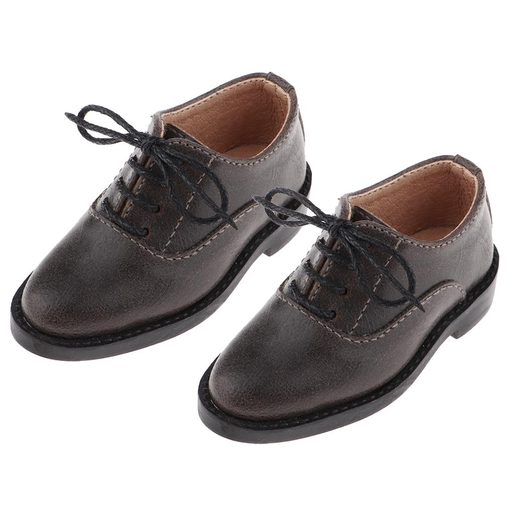 1//6 Scale Male Dress Shoes PU Leather Shoes for 1:12 Doll Body Garment