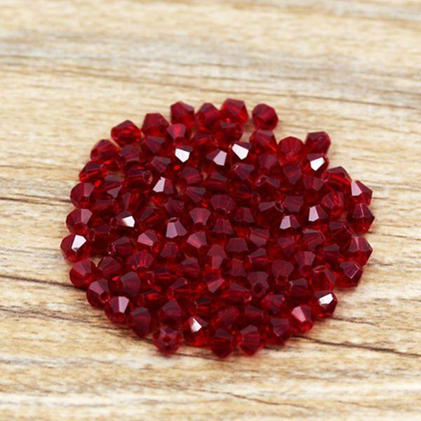 2,000 Pcs Tiny 4mm Translucent Red Round Crystal Faceted Plastic Craft Beads