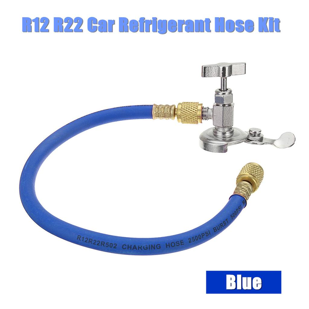 R12 R22 Can Tap Tapper Refrigerant Recharge Hose Kit 500psi~2500psi