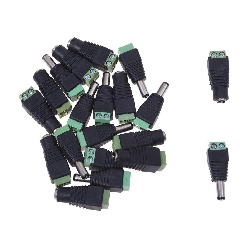 10 Pair 2.1x5.5mm Male Female DC Power Plug Socket Jack Connector Pack 20pcs