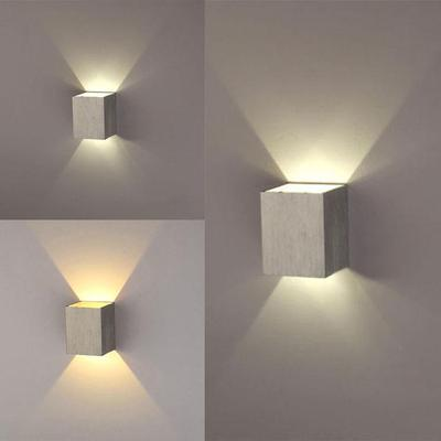 New modern 3w led square wall lamp hall walkway living room light modern 3w led square wall lamp hall walkway living room light fixture aloadofball Gallery