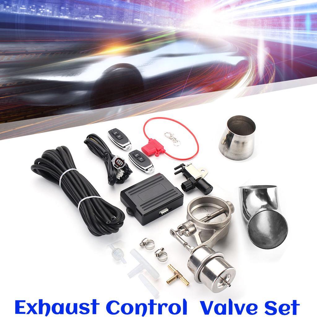 "2.5/"" 63mm Exhaust Control Valve Set Vacuum Actuator Closed Style+Remote Control"