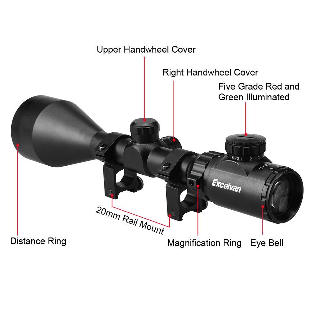 Excelvan 3-9 X 56 Tactical beleuchtet Jagd Umfang Anblick mit ...