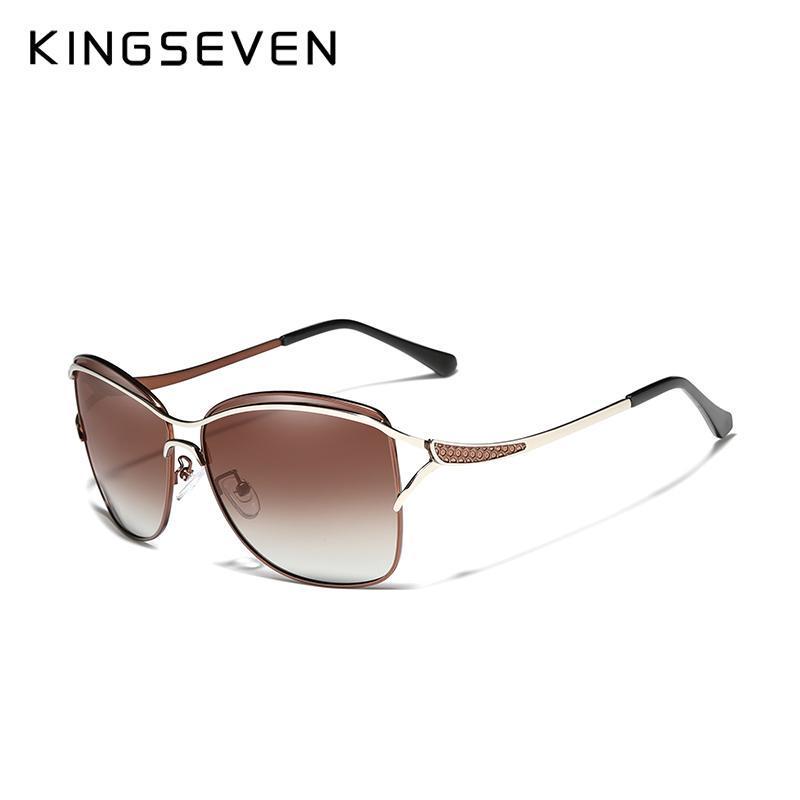 KINGSEVEN Cat Eye Sunglasses Women Polarized Fashion Ladies Female Vintage Shade