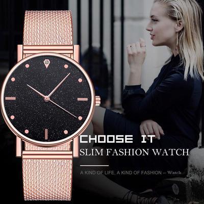 2019 New Rose Gold Women Watch Business Quartz Watch Ladies Top Brand Luxury Female Wrist Watch Girl Clock Relogio Feminin