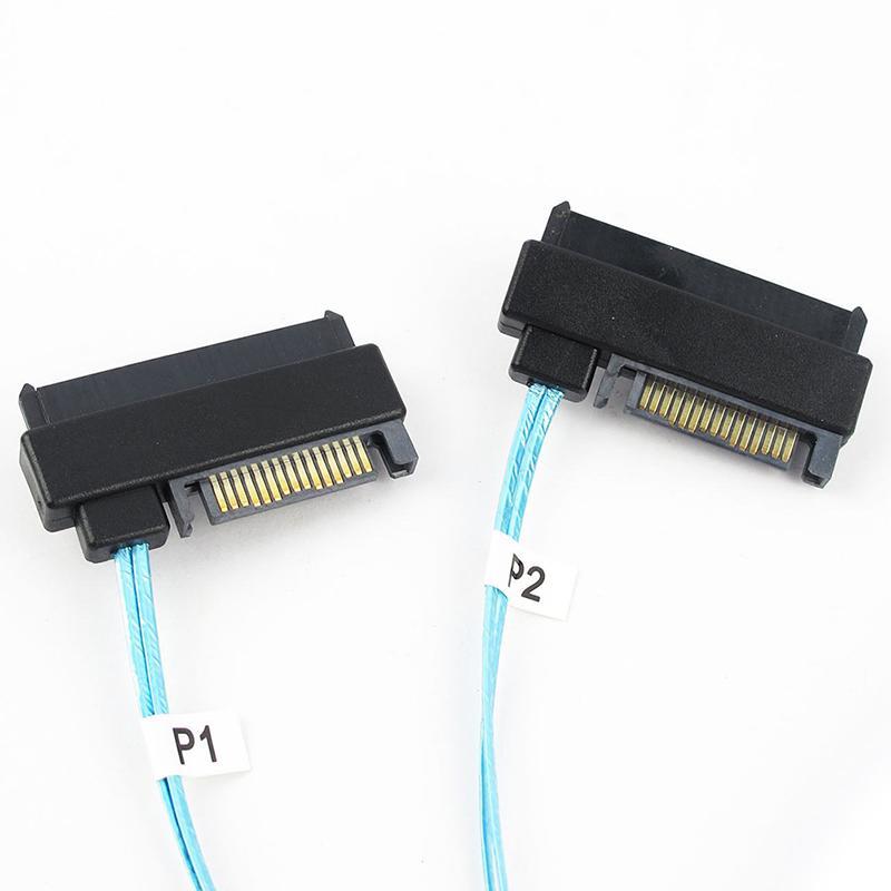 Mini SAS 36P SFF-8087 to 4 SFF-8482 Connectors With SATA Power Cable 0.5M FF