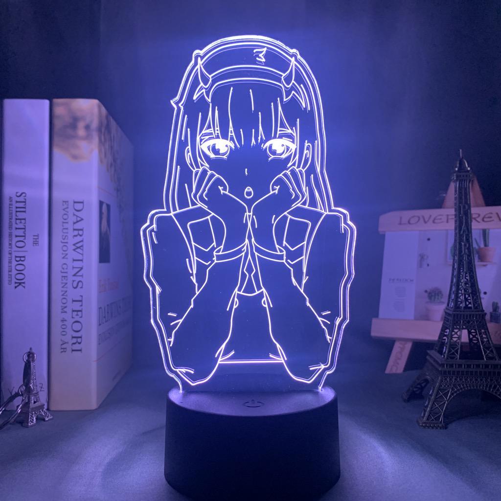 Acrylic Led Night Light Anime Darling In The Franxx 3D Lamp Bedroom Decor Gift