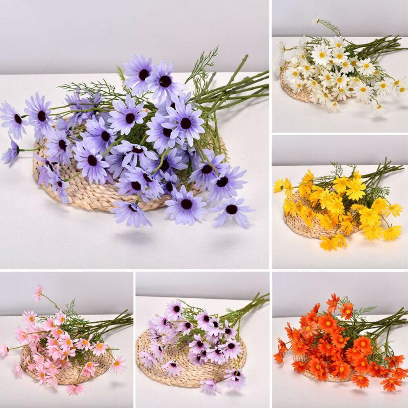 Artificial Bunch Fake Silk Daisy Flower Bouquet Home Wedding Party Decoration BT
