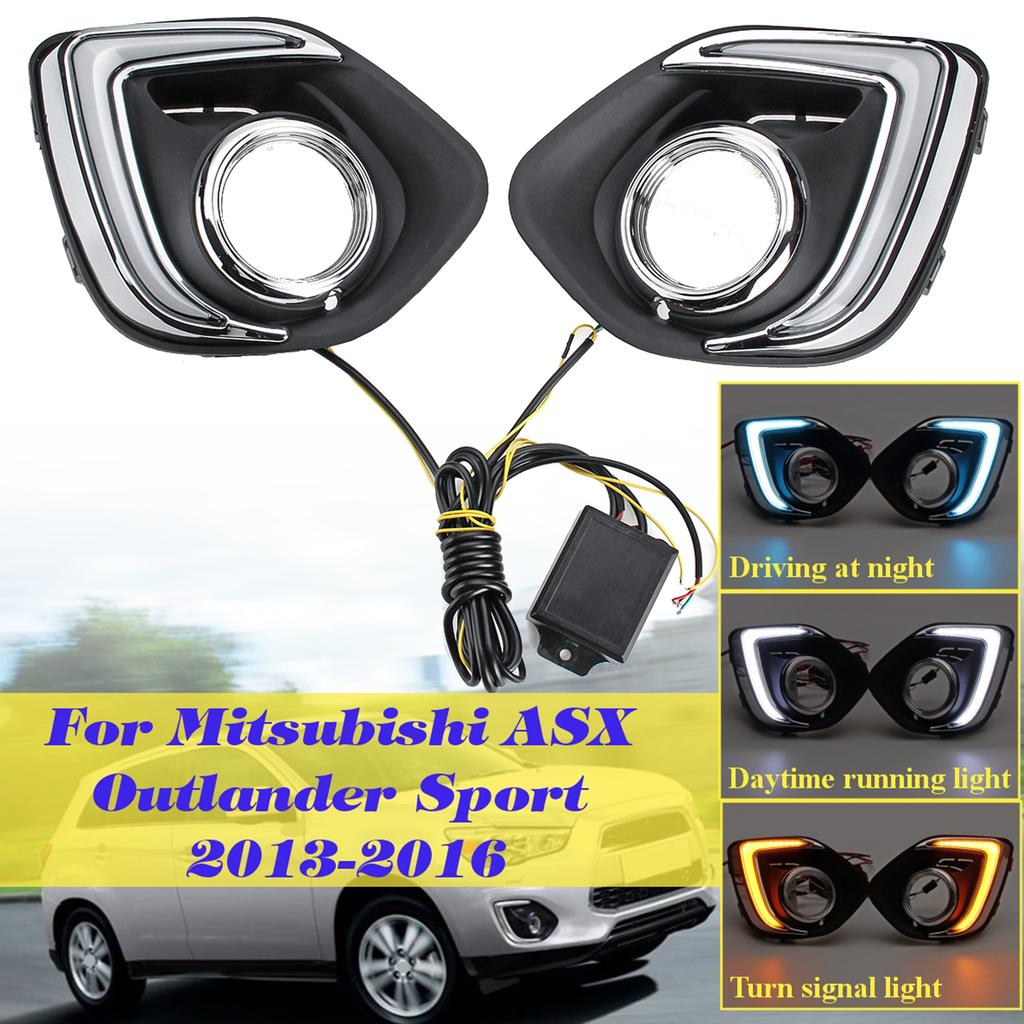 Chrome Front Side Air Vent Cover Trim For Mitsubishi ASX Outlander Sport RVR 13