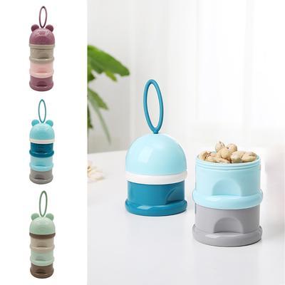 3Layers Baby Milk Powder Dispenser Snack Container Storage Formula Feeding Boxes
