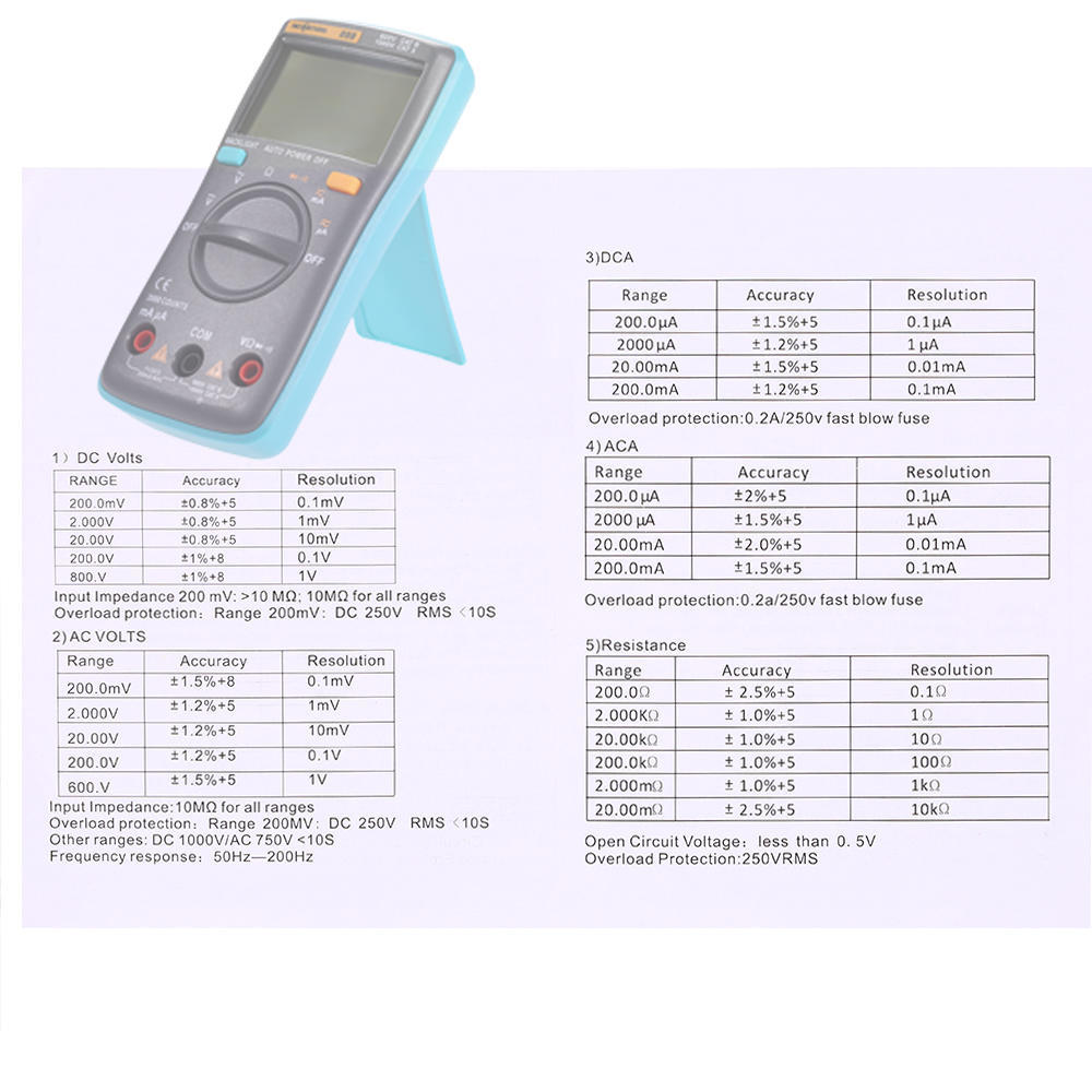 Richmeters Rm098 Digital Multimeter Dc Ac Voltage Current Resistance Circuit Above Will Protect Your Device At Vo By Blowing The 2 Of 13