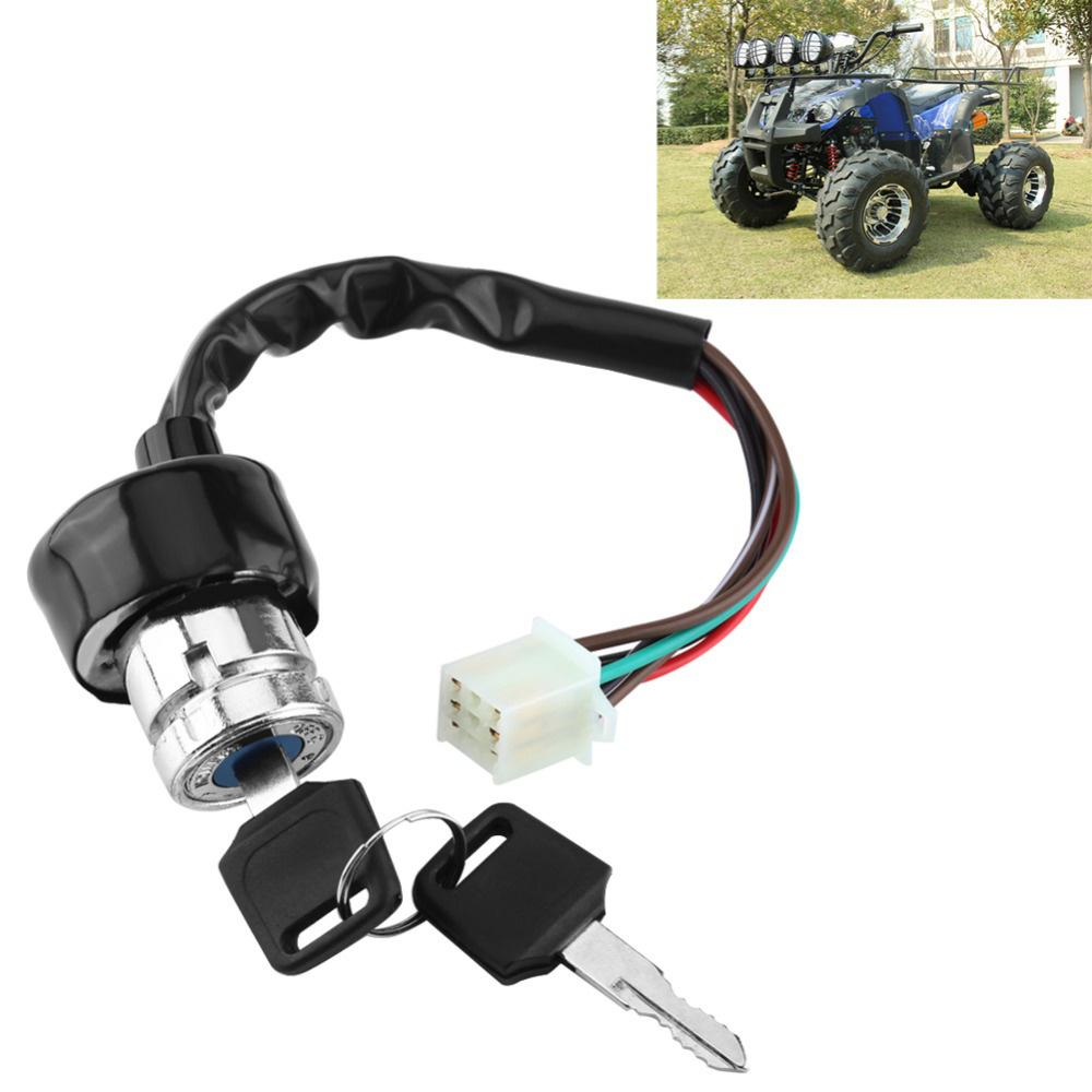 Universal 6 Wire Ignition Switch 3 Position 2 Keys Motorcycle Kart Atv Quad Bike Headlight On Off Rearview Mirror 1 Of 5