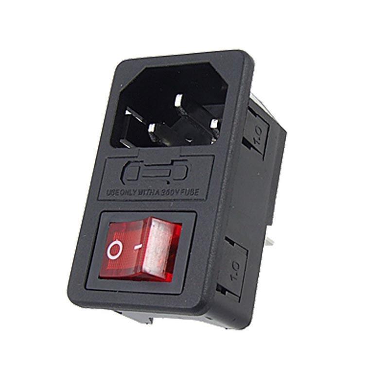 Schalter Power Rocker IEC 3 Pin 320 C14 Power Steckdosen Schalter ...